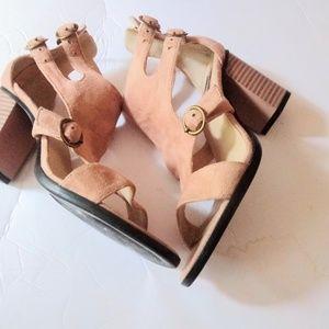 Cape Robbin Tan Suede Sandals Size 8